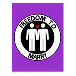 Libertad gay a casarse postal