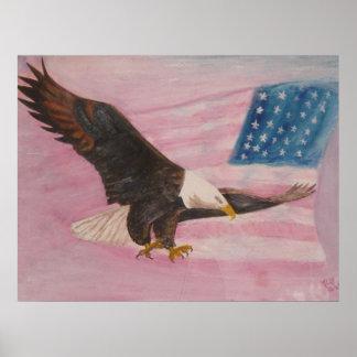 Libertad - impresión de la lona posters