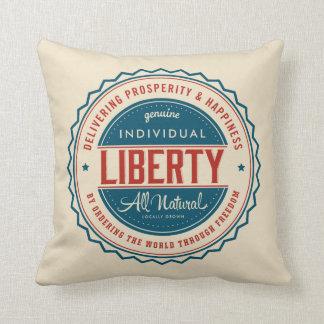 Libertad individual cojín