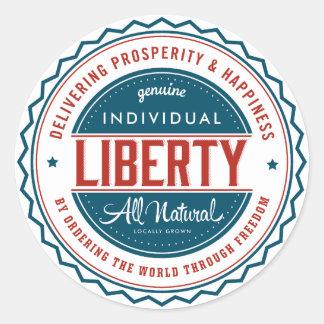 Libertad individual etiquetas redondas