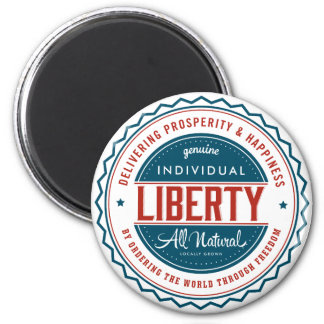 Libertad individual imán redondo 5 cm