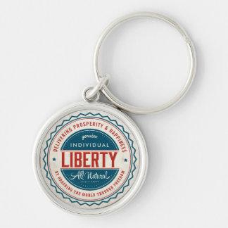 Libertad individual llavero personalizado