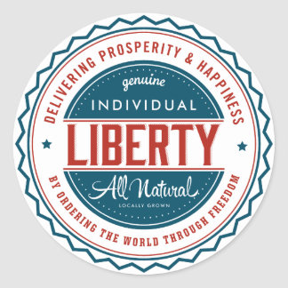 Libertad individual pegatina redonda