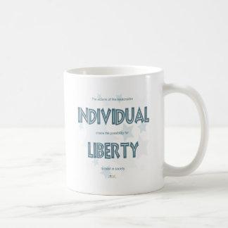 Libertad individual tazas