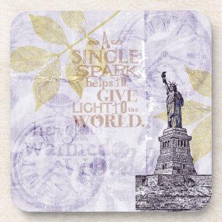 Libertad inspirada de Nueva York Posavasos