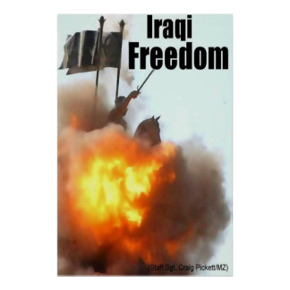 Libertad iraquí póster