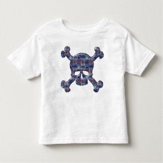 Libertad, libertad y cráneo patriótico valiente de t-shirt
