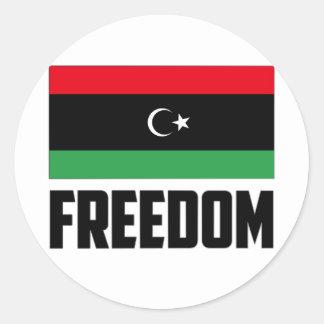 Libertad - Libia Pegatina Redonda