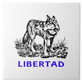 Libertad - Lobo EN la naturaleza Tiles
