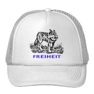 Libertad - lobo en región salvaje gorras de camionero