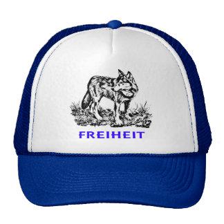 Libertad - lobo en región salvaje gorros bordados