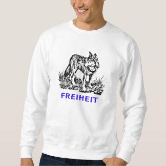Libertad - lobo en región salvaje sudadera