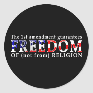 Libertad los pegatinas etiqueta redonda