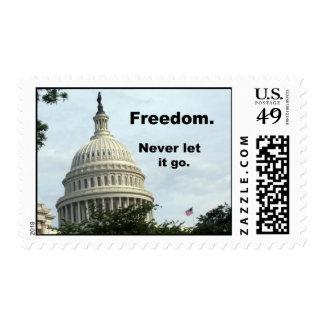 Libertad; ¡Nunca déjela van! Sello
