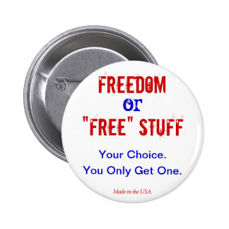 Libertad o botón libre de la materia pin