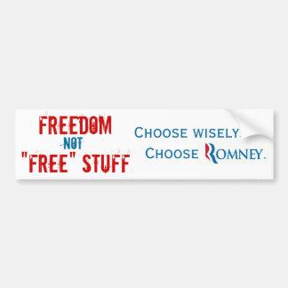 Libertad o materia libre pegatina de parachoque