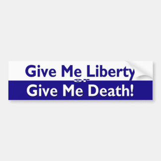 Libertad o pegatina para el parachoques de la muer etiqueta de parachoque