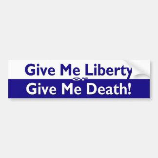 Libertad o pegatina para el parachoques de la muer pegatina para auto