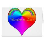 Libertad para amar LGBT Tarjetas