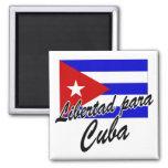 ¡Libertad para Cuba! Iman De Frigorífico