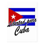 Libertad para Cuba! Postcard