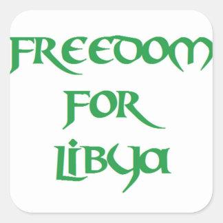 Libertad para Libia Pegatina Cuadrada