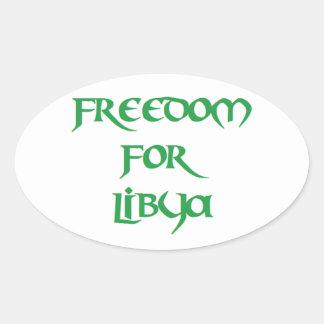 Libertad para Libia Pegatina Ovalada