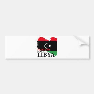 Libertad para Libia Pegatina Para Auto