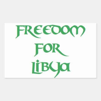 Libertad para Libia Pegatina Rectangular
