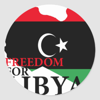Libertad para Libia Pegatina Redonda
