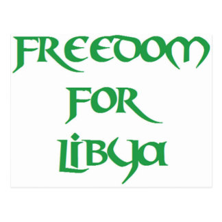 Libertad para Libia Tarjeta Postal