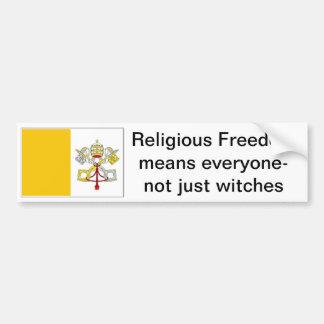 libertad para los católicos pegatina de parachoque