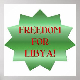 ¡Libertad para los libios Posters