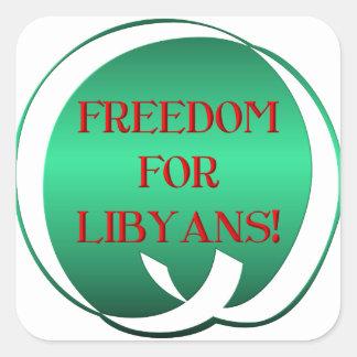 ¡Libertad para los libios! Pegatina Cuadrada