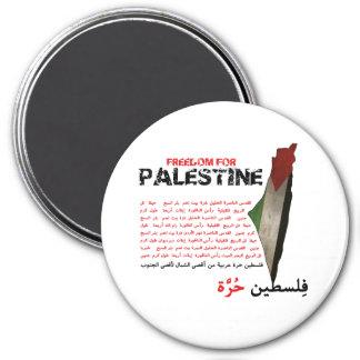 Libertad para Palestina Imán Redondo 7 Cm