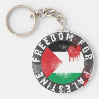 Libertad para Palestina Llavero Redondo Tipo Pin