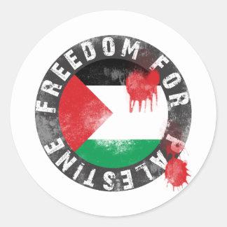Libertad para Palestina Pegatina Redonda