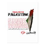 Libertad para Palestina Tarjeta Postal