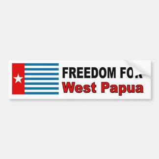 Libertad para Papua del oeste Pegatina Para Auto