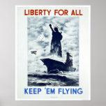 Libertad para todo el WWII WPA 1942 Posters