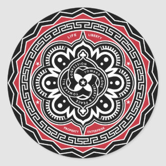 Libertad para todos los pegatinas de las insignias pegatinas redondas