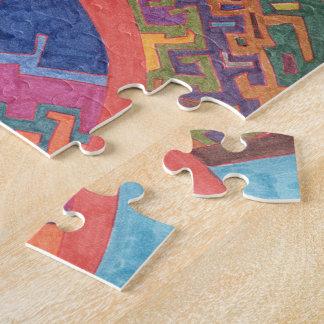 Libertad para volar arte abstracto rompecabeza