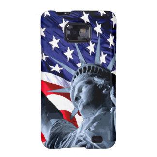 Libertad patriótica de las barras y estrellas samsung galaxy SII fundas