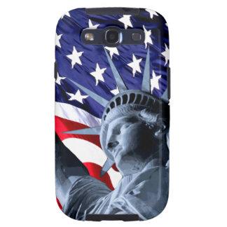Libertad patriótica de las barras y estrellas samsung galaxy s3 carcasa