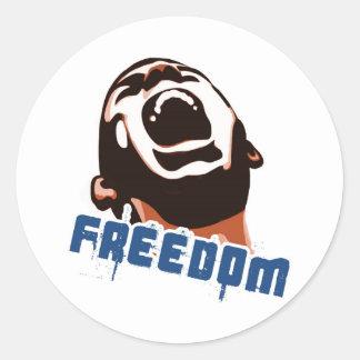 Libertad Pegatina Redonda