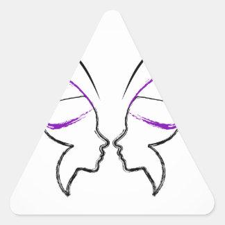Libertad Pegatina Triangular
