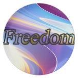 Libertad Plato Para Fiesta