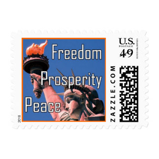 Libertad, prosperidad, paz sellos postales