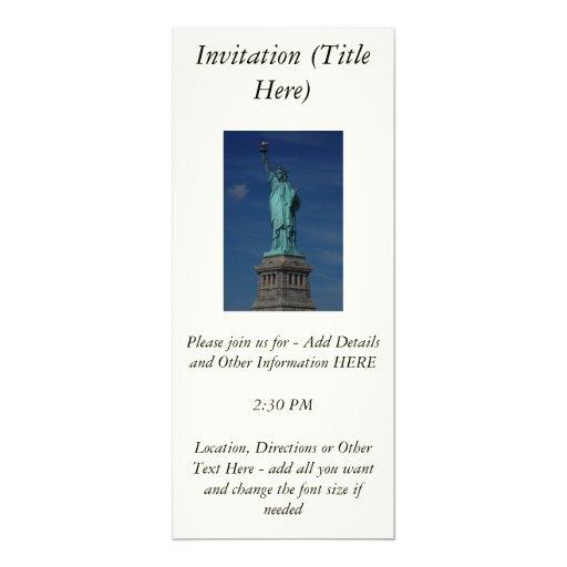 """Libertad que aclara el mundo - estatua de la invitación 4"""" x 9.25"""""""