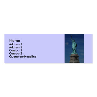 Libertad que aclara el mundo - estatua de la liber plantilla de tarjeta de negocio